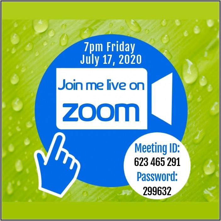 Zoom Webinar Invitation Email Template