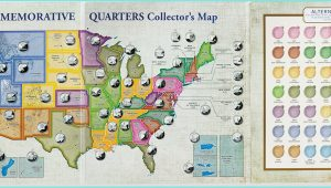 50 State Quarters Collector's Map