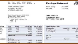 Adp Pay Stub Template Canada