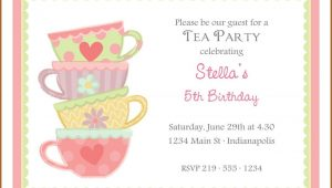 Afternoon Tea Party Invitation Template