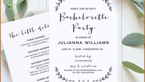 Bachelorette Party Itinerary Template Download