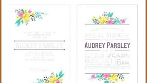 Bachelorette Party Itinerary Template Word