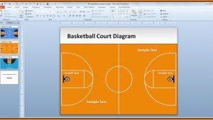 Basketball Court Powerpoint Template