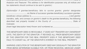 Beneficiary Deed Form