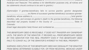 Beneficiary Deed Form Colorado