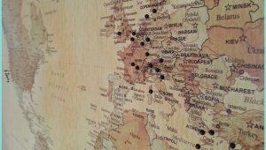 Big World Map Pinboard
