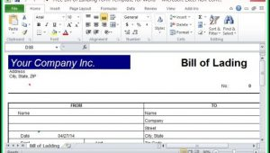 Bill Of Lading Form Excel Free