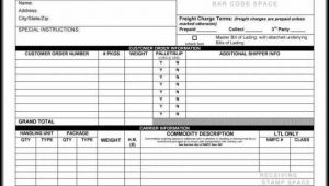 Bill Of Lading Forms Printable