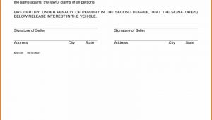 Bill Of Sale Template Colorado
