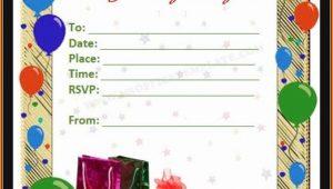 Birthday Invitation Cards Templates Word