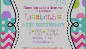 Birthday Invites Template Free