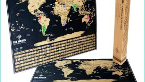 Black And Gold Scratch Off Map