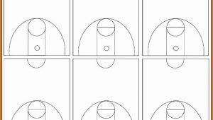 Blank Basketball Court Template