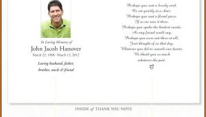 Blank Memorial Card Template