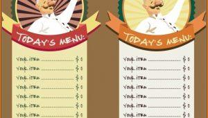 Blank Restaurant Menu Template Free