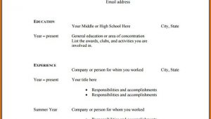 Blank Resume Pdf Download