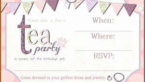 Blank Tea Party Invitation Template