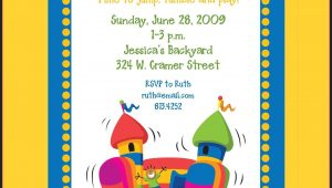 Bounce House Party Invitations Template