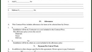 Builder Contract Form