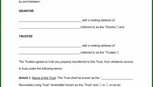 California Revocable Living Trust Form Pdf