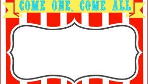Carnival Theme Invitation Template