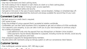 Cash Card Direct Deposit Form