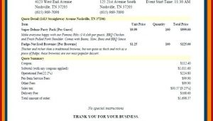 Catering Proposal Template Excel