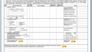 Certificate Of Liability Insurance Acord Form Fillable