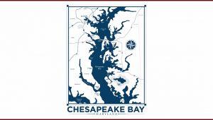 Chesapeake Bay Map Art