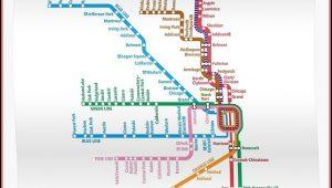 Chicago El Train Map Poster