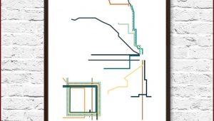 Chicago Transit Map Poster