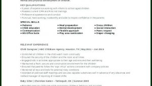 Child Caregiver Resume Templates