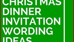 Christmas Dinner Invitation Wording