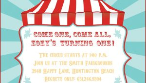 Circus Tent Invitation Template Free