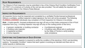 Citizens Insurance Florida Roof Certification Form