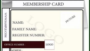 Club Membership Card Template