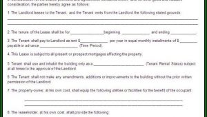 Commercial Lease Agreement Template Word Free