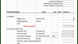 Construction Project Budget Excel Template
