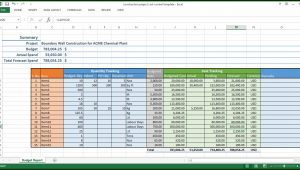 Construction Project Excel Template