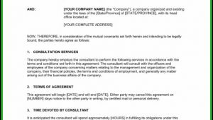 Consulting Agreement Template Short