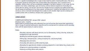 Cosmetology Resume Templates