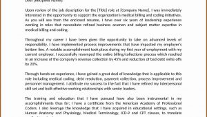 Cover Letter Examples For Medical Coding And Billing