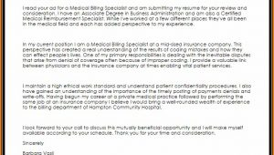 Cover Letter For Medical Billing And Coding Specialist