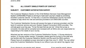 Customer Satisfaction Survey Cover Letter