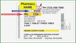 Cvs Prescription Bottle Label Template