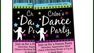 Dance Party Invitation Templates Free