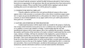 Dental Implant Consent Form Template