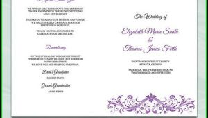 Diy Catholic Wedding Program Template