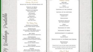 Diy Wedding Ceremony Program Template