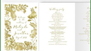 Diy Wedding Program Template Booklet